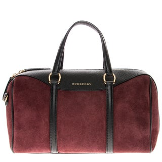 Burberry Medium Alchester in Suede and Leather Wine