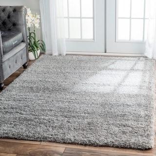 nuLOOM Soft and Plush Solid Shag Grey Rug (6'7 x 9')