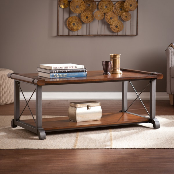49 Coffee Table Nickel Finish Solid Iron Casters: Harper Blvd Pierce Coffee/ Cocktail Table