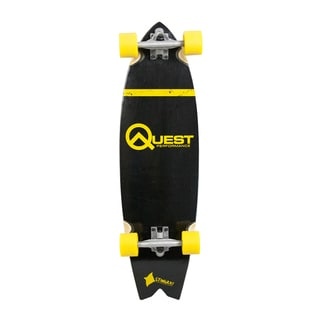 Quest The Stingray Yellow 34.5-inch Performance Cruiser Skateboard
