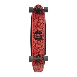 Quest 35-inch Inked Kick Tail Longboard Skateboard