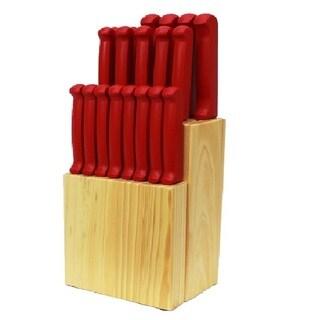 Quikut Homebasics 20-piece Red Cutlery Set