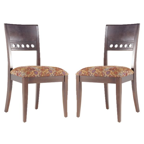 Upholstered Cushioned Seat Chairs (Set of 2)
