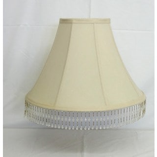 Round Bell Silk Shade with Beads