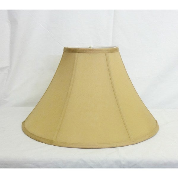 Round Light Gold Silk Shade