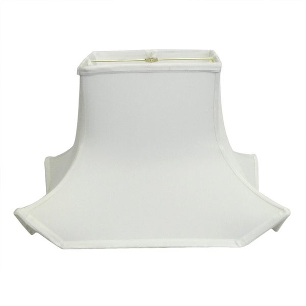 White Rectangle Pagoda Style Silk Shade