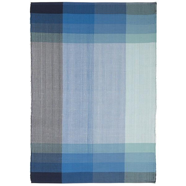 Bliss -Blue Polypropylene Area Rug 2.5 x 8 (India)