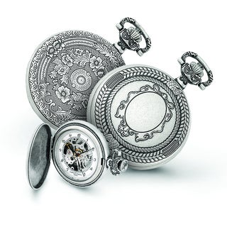 Versil Charles Hubert Antiqued Oval Design Pocket Watch