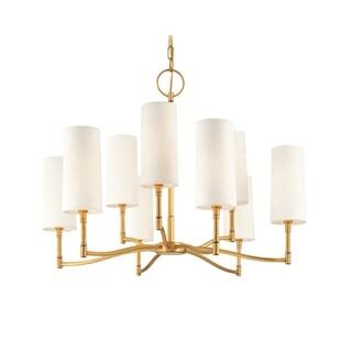 Hudson Valley Dillon 9-light Brass Chandelier
