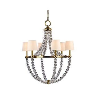 Hudson Valley Danville 6-light Brass Chandelier