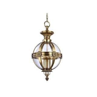 Hudson Valley Marietta 4-light Pendant, Aged Brass
