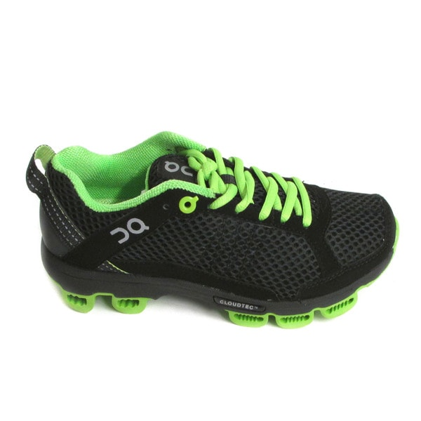 On Cloudsurfer Women's Black/ Lime Running Shoes