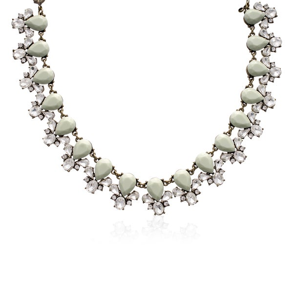 Passiana Mint Crystal Bib Necklace