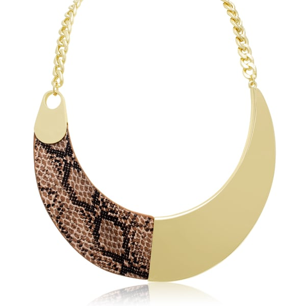 Passiana Snakeskin Vegan Leather and Gold Collar