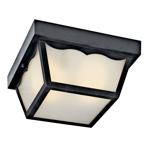 Kichler Lighting 1-light Black Outdoor Flush Mount