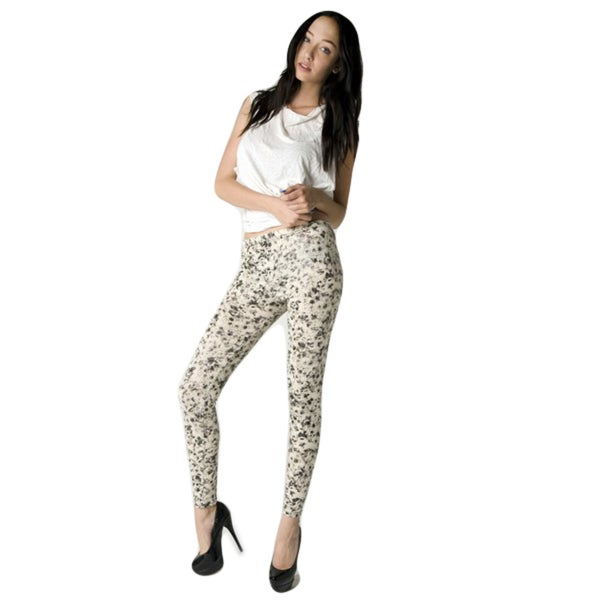 Women's Floral Printed Sketch Leggings