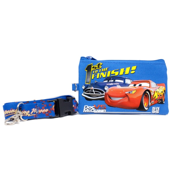 Lightning McQueen Lanyard with Detachable Coin Pouch and Clear Opening for ID or Cell Phone Holder