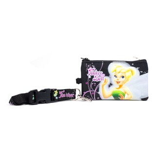 Tinkerbell Fairiess Lanyard with Detachable Coin Pouch and Clear Opening for ID or Cell Phone Holder