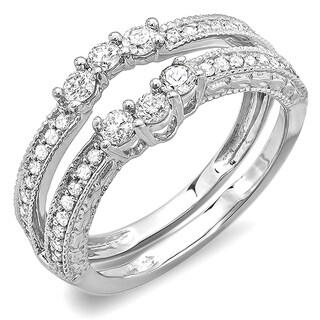 14K White Gold 0.60 ct TDW Diamond Band or Wedding Ring Enhancer Guard (H-I, I1-I2)