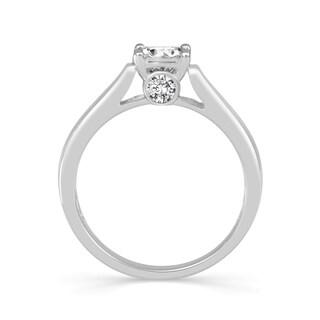 10k White Gold 1/2ct TDW Diamond Solitaire Ring (H-I, I2)