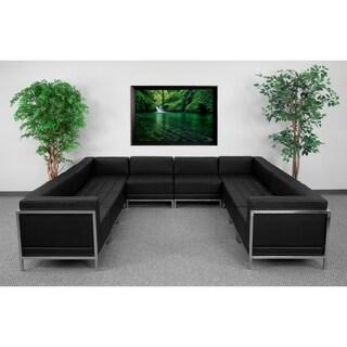 Flash Furniture Imagination Series Black U-shaped Lounge Set, 10-pieces