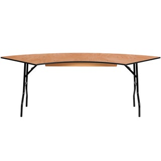 Flash Furniture Serpentine Wood Folding Banquet Table, 5-feet long