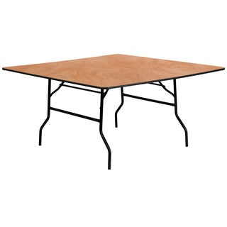 Flash Furniture 60-inch Square Wood Folding Banquet Table