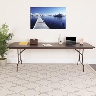 Flash Furniture 96-inch Rectangular High Pressure Laminate Folding Banquet Table