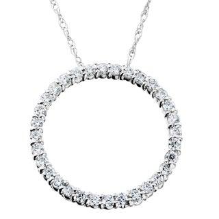 14K White Gold 1/ 2ct TDW Circle Of Life Diamond Pendant (I-J,I2-I3)