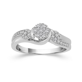 10k White Gold 1/3ct TDW Diamond Engagement Ring (H-I, I2)