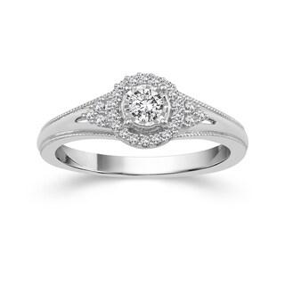 10k White Gold 1/5ct TDW Diamond Ring (H-I, I2-I3)