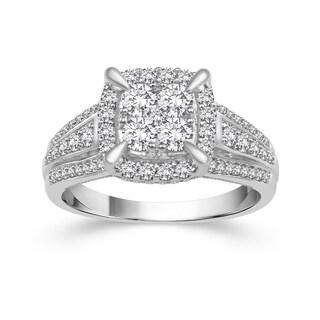 10k White Gold 1ct TDW Diamond Engagement Ring (H-I, I2)