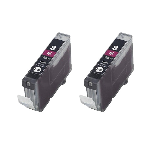 2PK CLI-8M Magenta Compatible Inkjet Cartridge For Canon PIXMA IP4200 5200 6600D 6700D MP500 MP800 ( Pack of 2 )