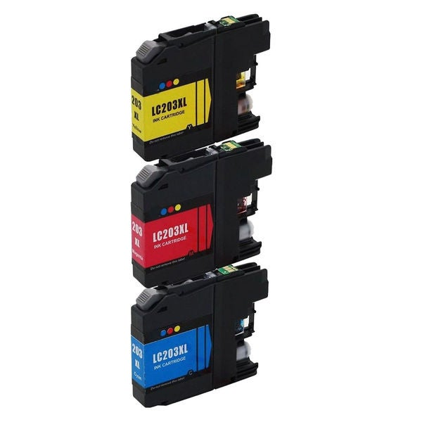 3 PK LC203 (C M Y) XL Compatible Inkjet Cartridge For Brother DCP-J4120DW MFC-J4420DW ( Pack of 3 )
