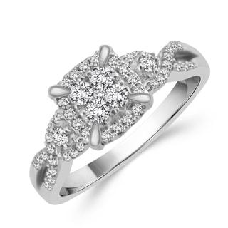 10k White Gold 3/8ct TDW Diamond Engagement Ring (H-I, I2)