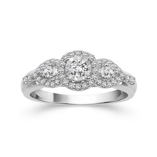 10k White Gold 3/8ct TDW Diamond Ring (H-I, I2)