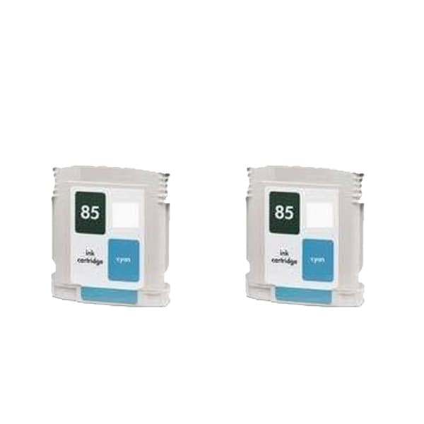 2PK C9425A ( HP 85 ) Cyan Compatible Inkjet Cartridge For HP 30 130 ( Pack of 2 )