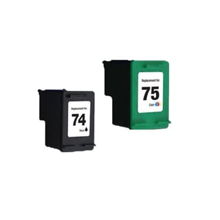 2PK HP74 HP75 Black Color Compatible Inkjet Cartridge For D4200 J5700 C4200 (Pack of 2 )