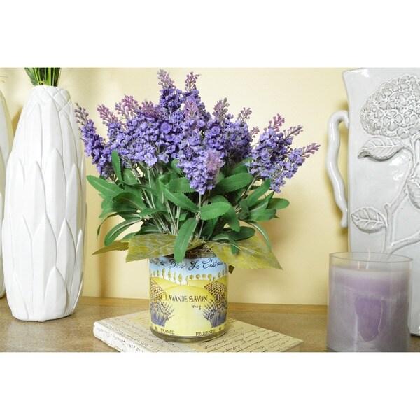Lavender Heather French Harvest Silk Floral Arrangement