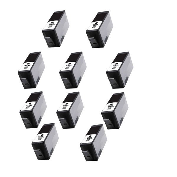 10PK 920 XL BK ( CC653AN ) Compatible Ink Cartridge For HP Officejet 6000 ( Pack of 10 )