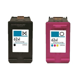 2PK C2P05AN (HP 62XL) C2P07AN (HP 62XL) Compatible Ink Cartridge For HP DeskJet 1000 - J110a (Pack of 2)