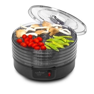 Pyle PKFD14BK Black Electric Countertop Food Dehydrator, Food Preserver