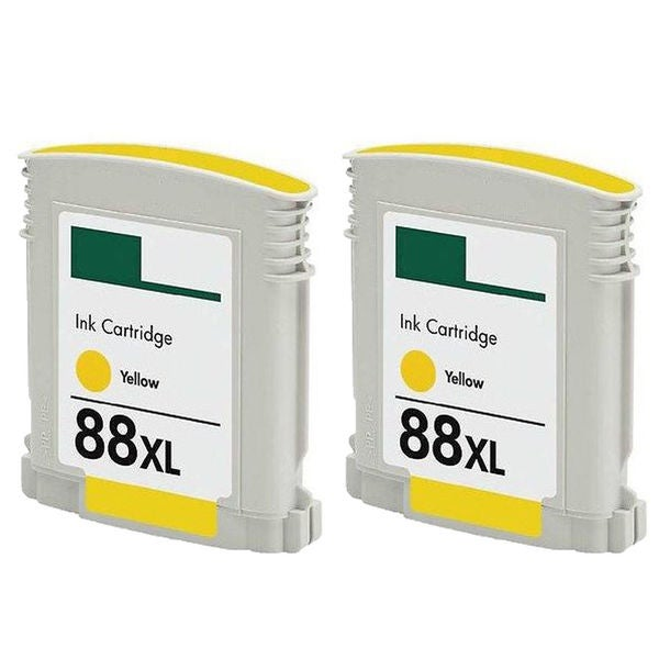 2PK C9393AN/C9388AN No. 88 Yellow Compatible Ink Cartridge For HP Officejet K550 ( Pack of 2 )