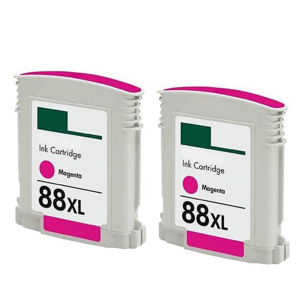 2PK C9392AN/C9387AN No. 88 Magenta Compatible Ink Cartridge For HP Officejet K550 ( Pack of 2 )