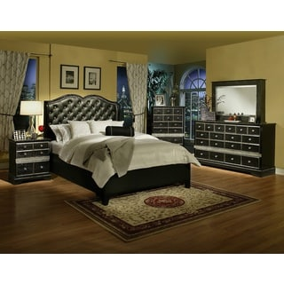 Worth King Size Platform Bed And 2 Nightstands 10582315