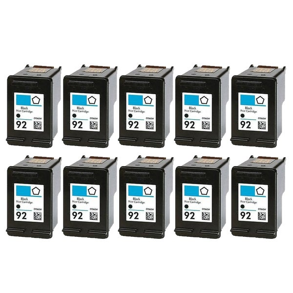 10PK C9362WN (HP 92) Black Compatible Ink Cartridge For HP Deskjet 5420 Officejet 6310 Photosmart C3100 ( Pack of 10 )