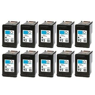 10PK C9362WN (HP 92) Black Compatible Ink Cartridge For HP Deskjet 5420 Officejet 6310 Photosmart C3100 ( Pack of 10 )