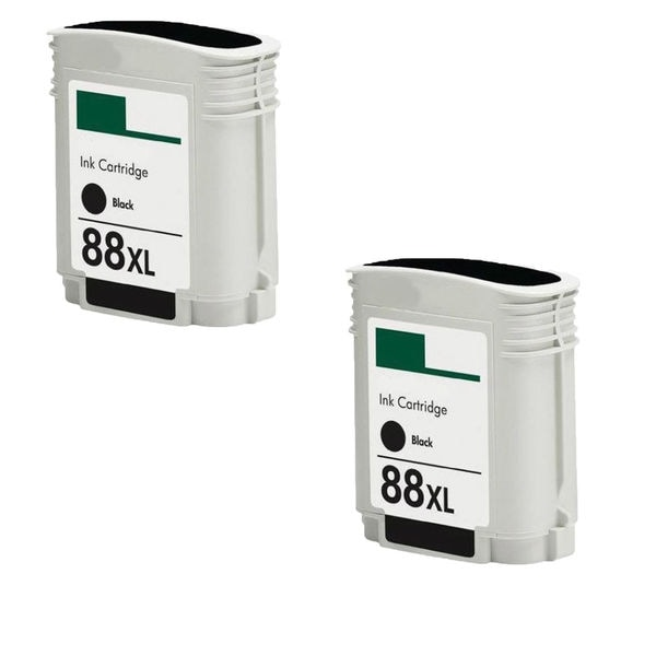 2PK C9396AN No. 88XL Black Compatible Ink Cartridge For HP Officejet K550 ( Pack of 2 )