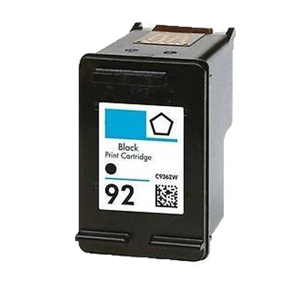 1PK C9362WN (HP 92) Black Compatible Ink Cartridge For HP Deskjet 5420 Officejet 6310 Photosmart C3100 ( Pack of 1 )