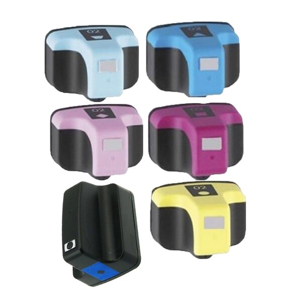6PK HP 02 BK C M Y LC LM Compatible Ink Cartridge For HP 3110 3210 3210v 3210xi 3310 3310xi 8250 ( Pack of 6 )